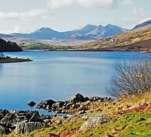 capel curig and Snowdon range by ardbrand