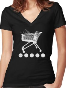 Bonkers - Trolley  Women's Fitted V-Neck T-Shirt