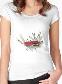Multipurpose knife Women's Fitted Scoop T-Shirt