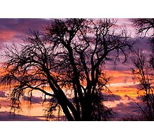 Boulder County Sunset Photographic Print