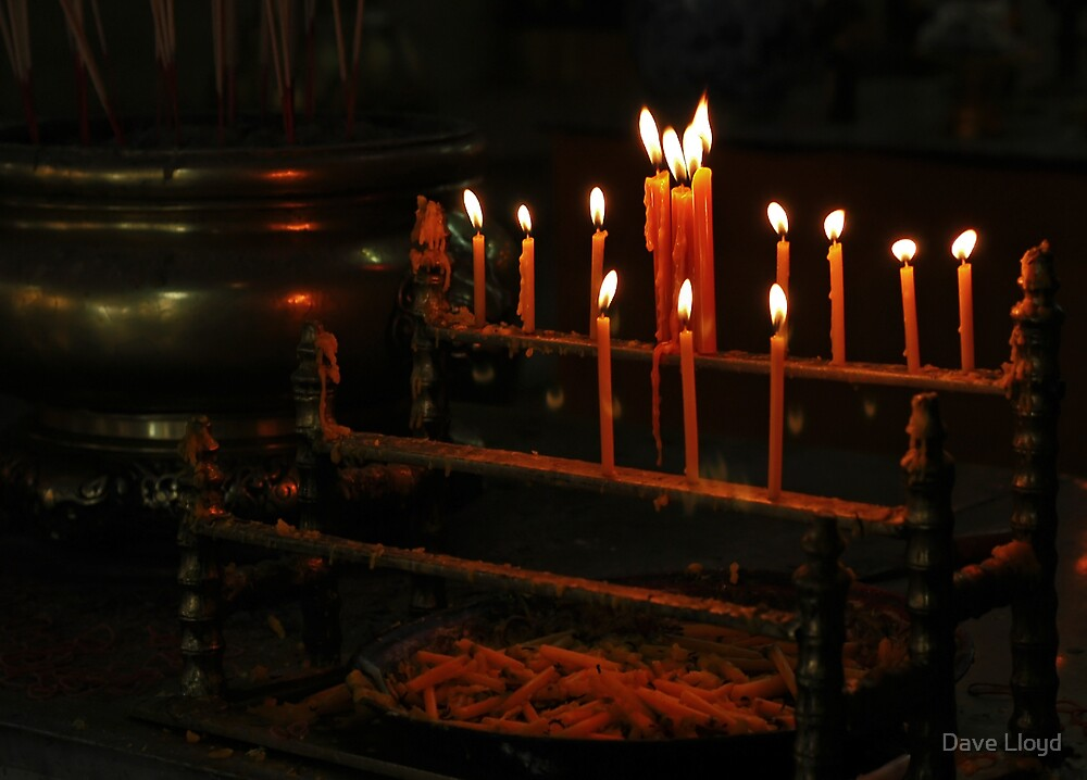 Temple Candles by Dave Lloyd