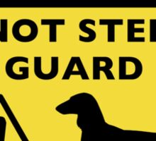 Humorous Dachshund Warning (Long Haired Dachshund) Sticker