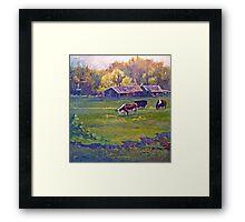 Morning Field with Cows Framed Print