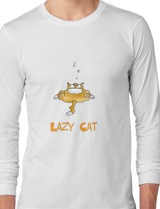 lazy cat Long Sleeve T-Shirt