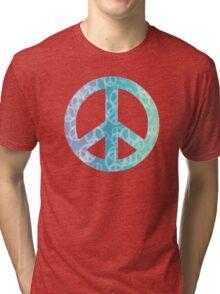 Peace Bokeh Print Tri-blend T-Shirt