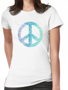 Peace Bokeh Print Womens Fitted T-Shirt