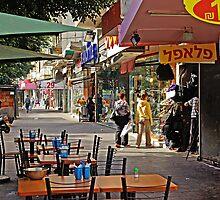 Morning on Allenby st. in Tel Aviv by coralZ