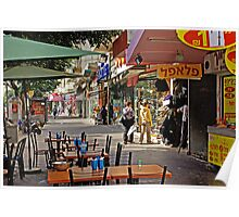 Morning on Allenby st. in Tel Aviv Poster