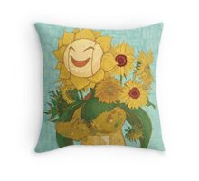 Sunflora Throw Pillow