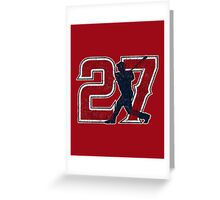 27 - Mike Trout (vintage) Greeting Card