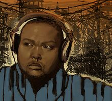 Timbaland Portrait by cwolfe