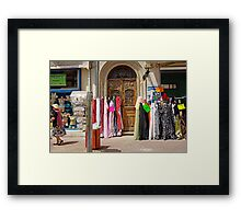 colorful fabrics Framed Print