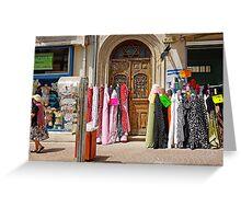 colorful fabrics Greeting Card