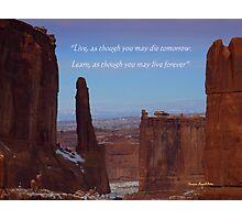 Moab Inspiration Photographic Print