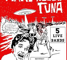 Mars Needs Tuna PUNK FLYER Retro by Charlottesw3b
