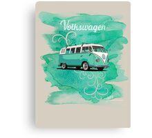 Volkswagen Kombi Mint Swirl Canvas Print