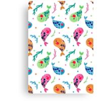 The Happy Fish Pattern Canvas Print
