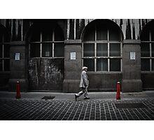 silver suit Photographic Print