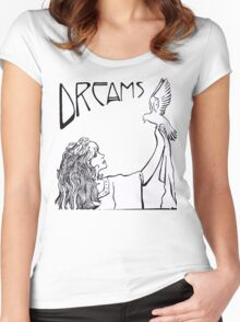 Stevie Nicks- Art Nouveau Style- B&W Women's Fitted Scoop T-Shirt