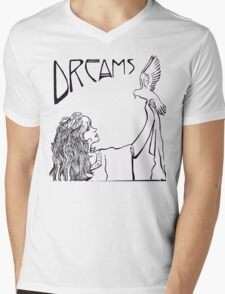 Stevie Nicks- Art Nouveau Style- B&W Mens V-Neck T-Shirt