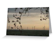 Windfarm at Dawn Greeting Card