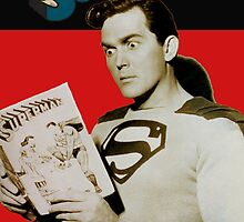 Kirk Alyn Reading Superman 1948 by Charlottesw3b