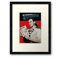 Kirk Alyn Reading Superman 1948 Framed Print
