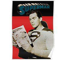 Kirk Alyn Reading Superman 1948 Poster