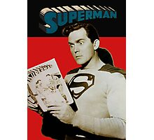 Kirk Alyn Reading Superman 1948 Photographic Print