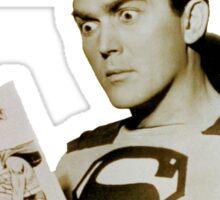 Kirk Alyn Reading Superman 1948 Sticker