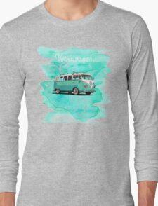 Volkswagen Kombi Mint Swirl © Long Sleeve T-Shirt