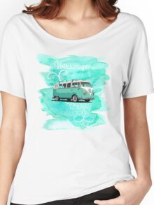 Volkswagen Kombi Mint Swirl © Women's Relaxed Fit T-Shirt