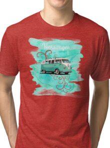 Volkswagen Kombi Mint Swirl © Tri-blend T-Shirt