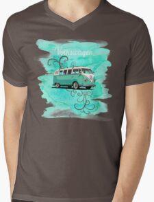 Volkswagen Kombi Mint Swirl © Mens V-Neck T-Shirt