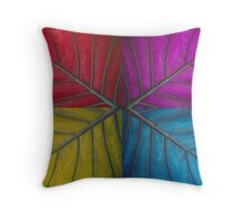 Abstract Giant Leaf Throw Pillow