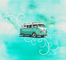 Volkswagen Kombi Mint Swirl © by BlulimeMerch