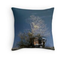 Truck & Tree Throw Pillow