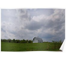 Clouds Looming over a Farm Poster