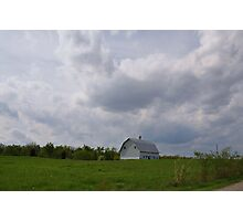 Clouds Looming over a Farm Photographic Print