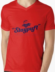 Stay Puft Marshmallow Man Mens V-Neck T-Shirt