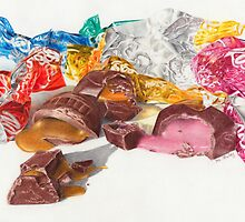 Chocolates, lots of soft centres by debstanleyart