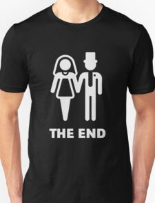 The End (Wedding / Marriage / Bridal Pair / White) T-Shirt