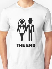 The End (Wedding / Marriage / Bridal Pair / Black) T-Shirt