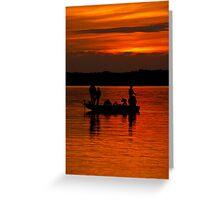 Fishermans Sunset Greeting Card