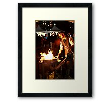 Working At Night Framed Print