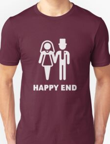 Happy End (Wedding / Marriage / Bridal Pair / White) T-Shirt
