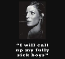 Fully sick boys - black and white and white text by ILikeShirts