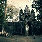 Gate of Angkor Thom by Caroline Fournier