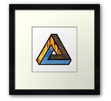TRIANGULAR-ELEMENTS Framed Print