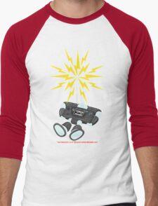 """8 Bit Buzz Bot v2.0.1 """"GearRoid"""" Men's Baseball ¾ T-Shirt"""